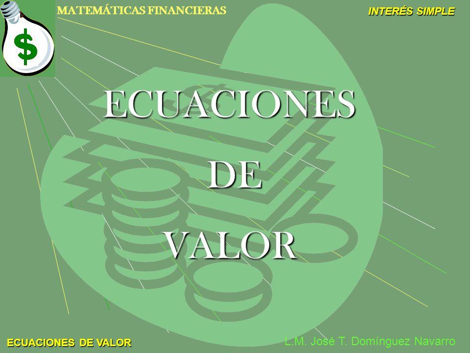 ECUACIONES DE VALOR