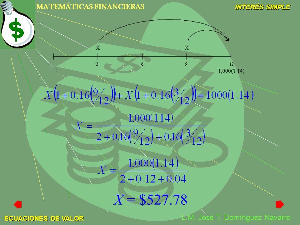 X = $527.78