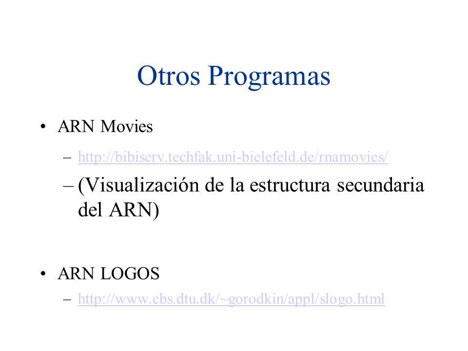 Otros Programas (Visualización de la estructura secundaria del ARN)