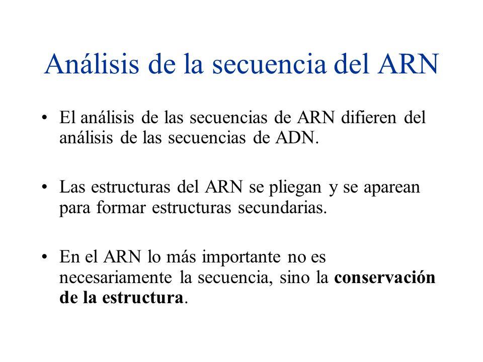 Análisis de la secuencia del ARN