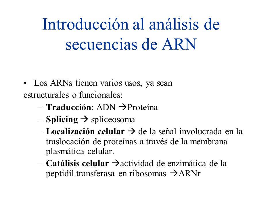 Introducción al análisis de secuencias de ARN