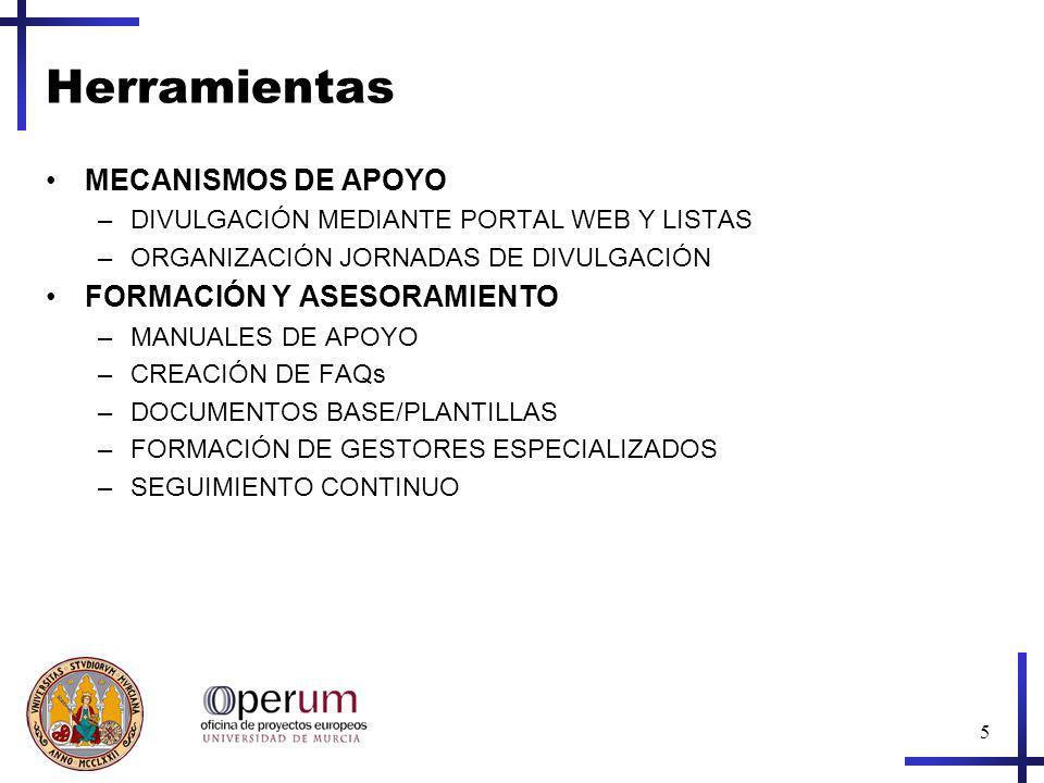Herramientas MECANISMOS DE APOYO FORMACIÓN Y ASESORAMIENTO
