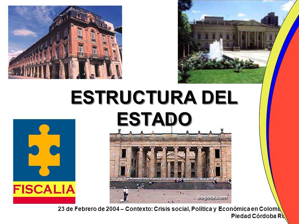 ESTRUCTURA DEL ESTADO 23 de Febrero de 2004 – Contexto: Crisis social, Política y Económica en Colombia.