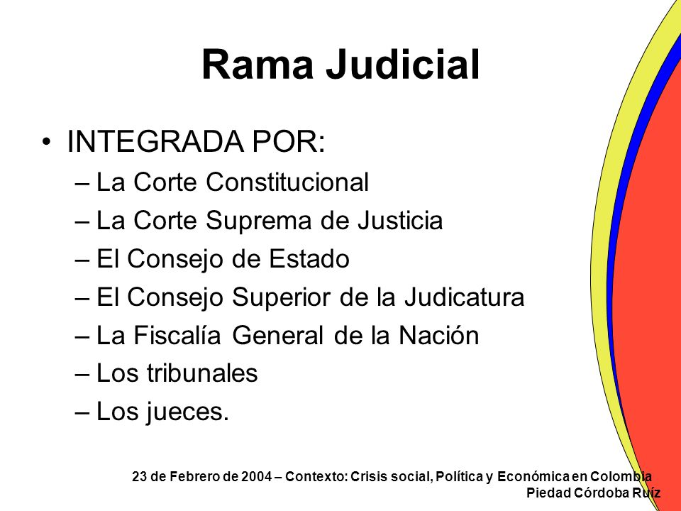Rama Judicial INTEGRADA POR: La Corte Constitucional