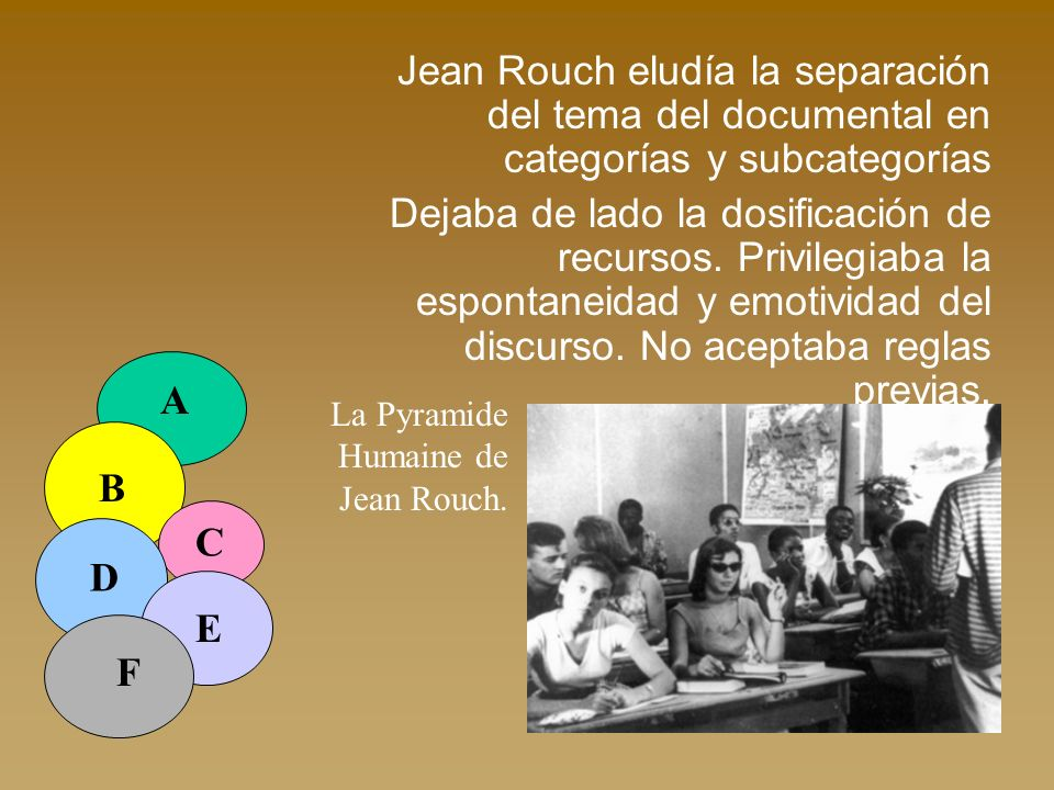 Jean Rouch eludía la separación del tema del documental en categorías y subcategorías