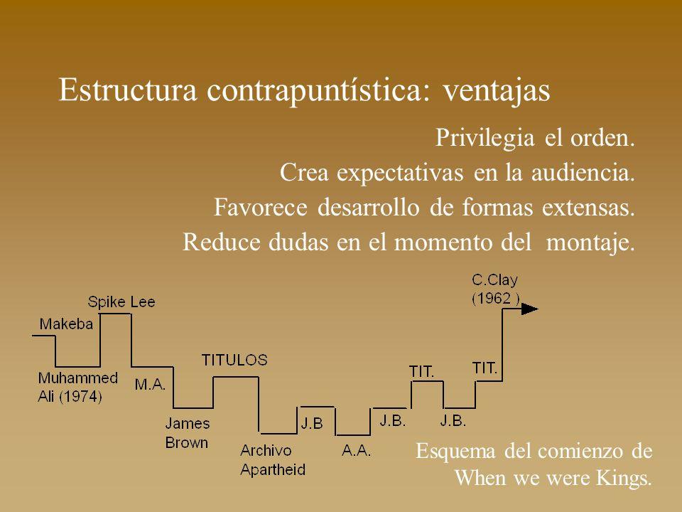 Estructura contrapuntística: ventajas