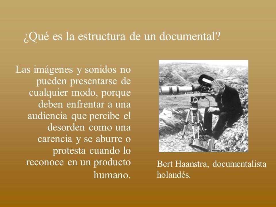¿Qué es la estructura de un documental