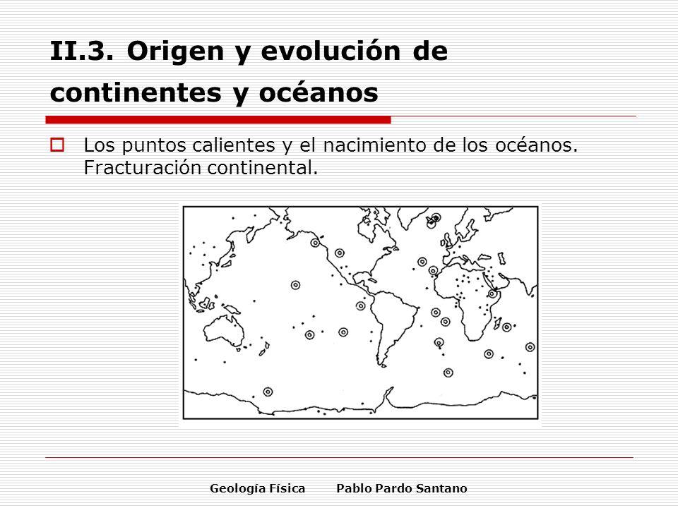 II.3. Origen y evolución de continentes y océanos