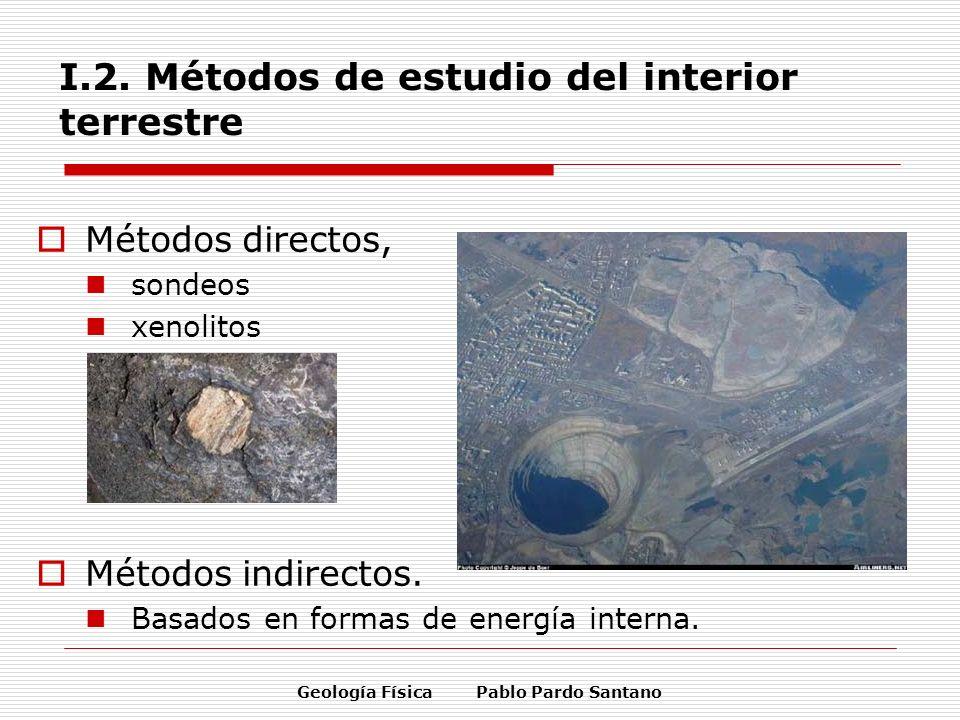 I.2. Métodos de estudio del interior terrestre