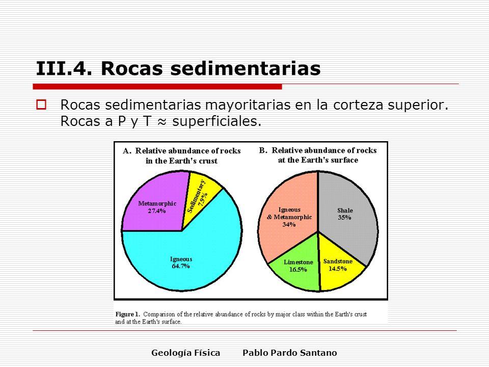 III.4. Rocas sedimentarias