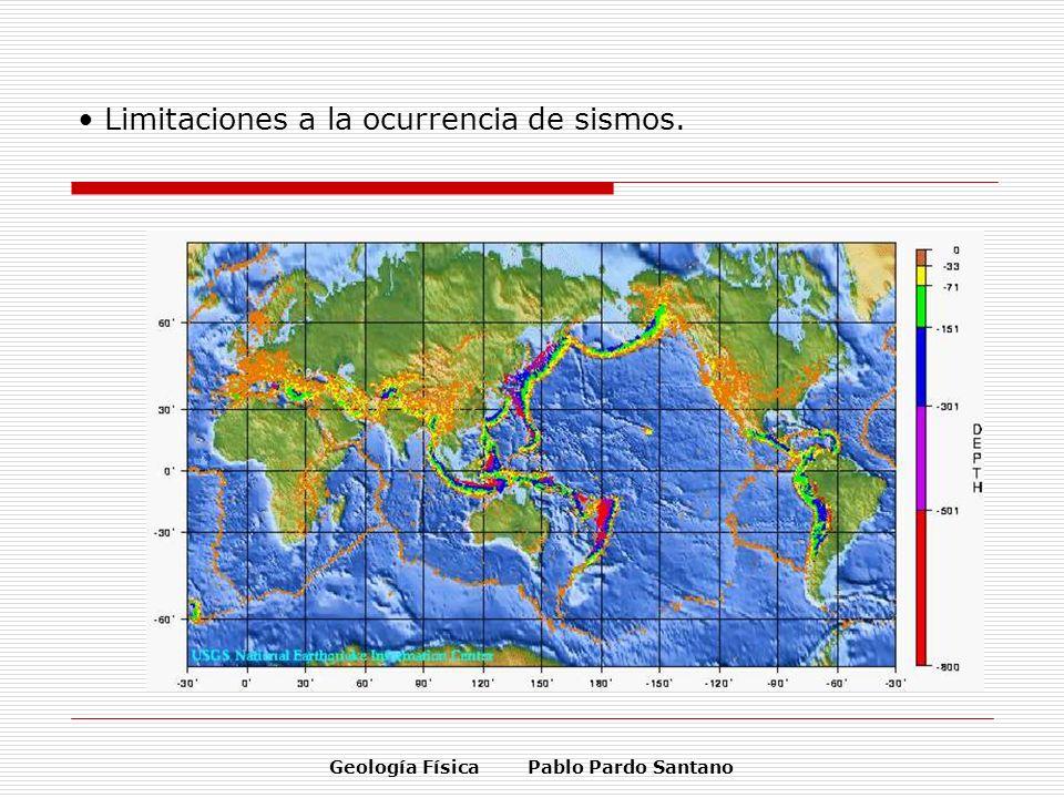 Limitaciones a la ocurrencia de sismos.