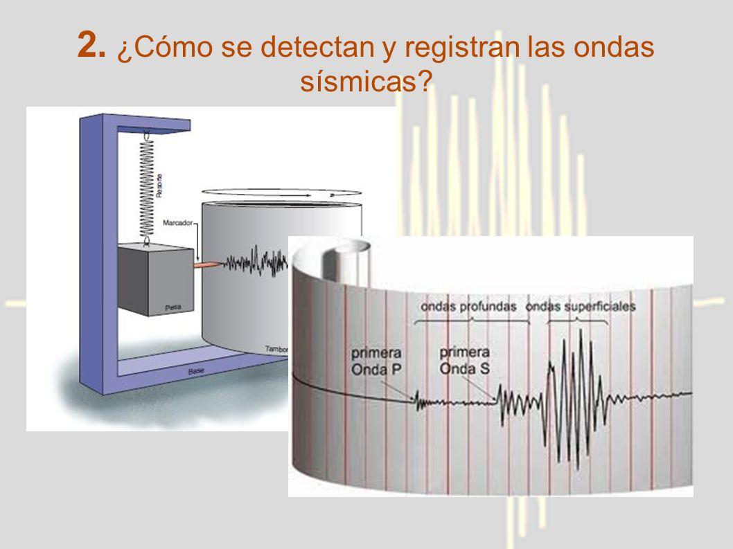 2. ¿Cómo se detectan y registran las ondas sísmicas