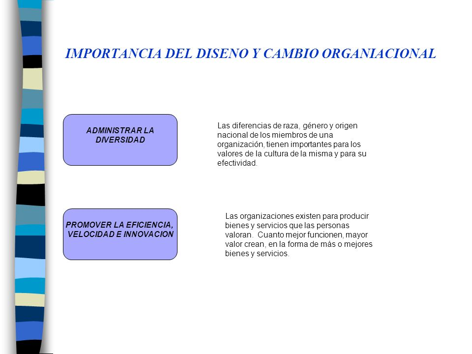 IMPORTANCIA DEL DISENO Y CAMBIO ORGANIACIONAL