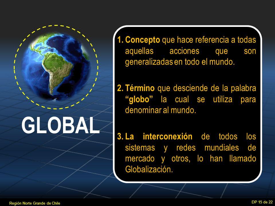 Concepto que hace referencia a todas aquellas acciones que son generalizadas en todo el mundo.
