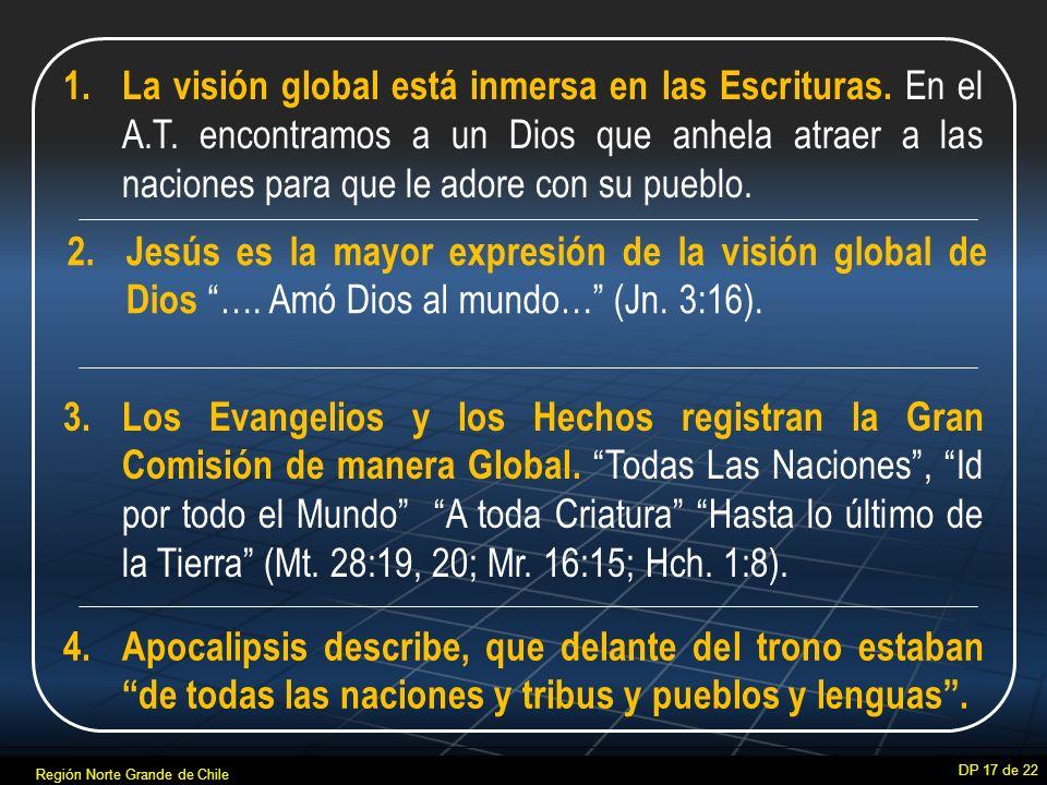 La visión global está inmersa en las Escrituras. En el A. T