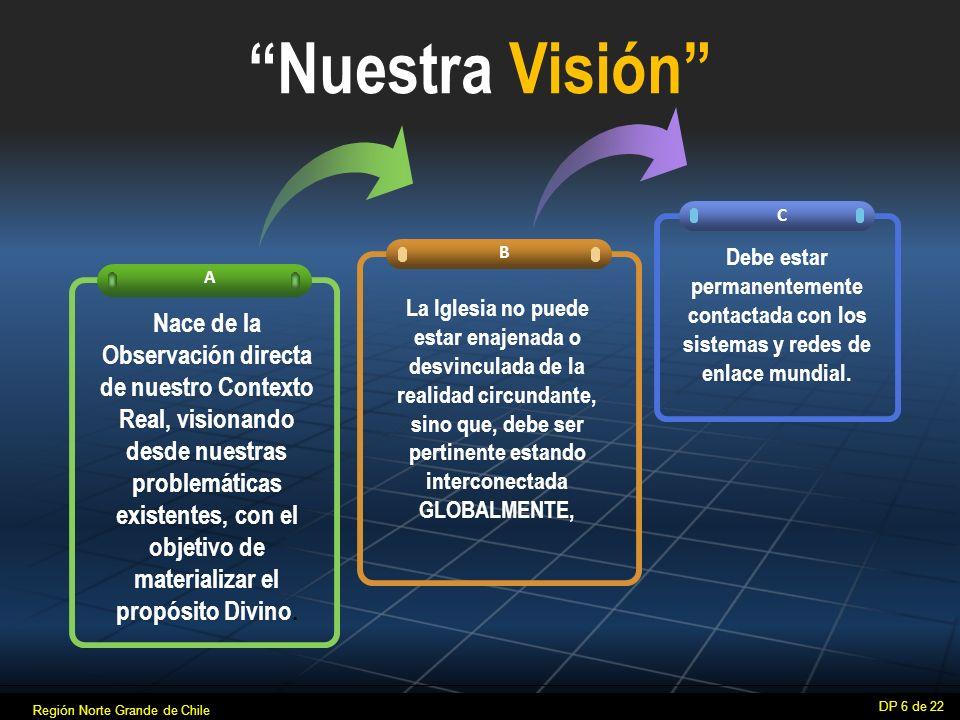 Nuestra Visión C. B. Debe estar permanentemente contactada con los sistemas y redes de enlace mundial.