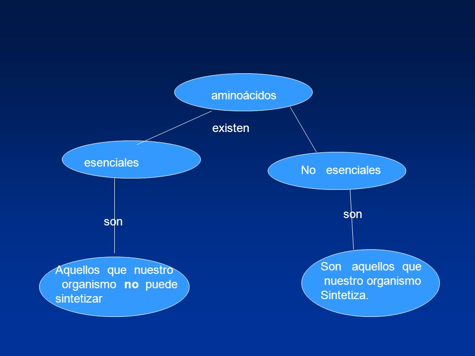 aminoácidos existen esenciales No esenciales son son Son aquellos que