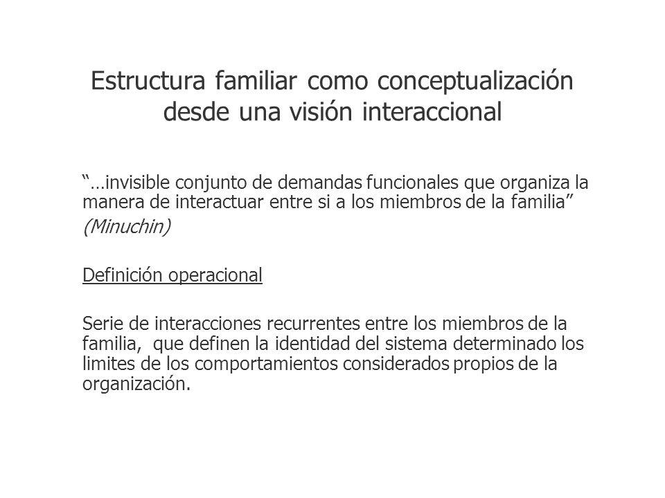 Estructura familiar como conceptualización desde una visión interaccional