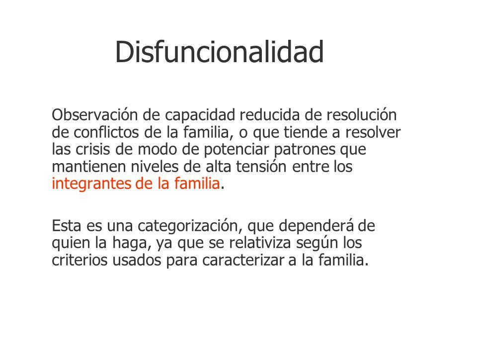 Disfuncionalidad