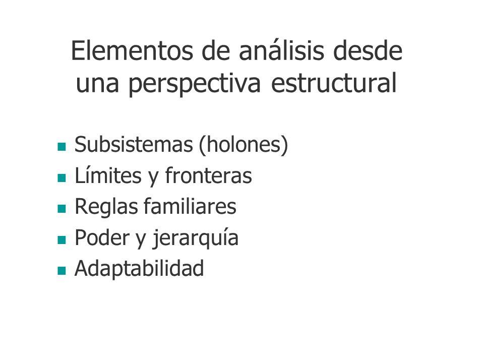 Elementos de análisis desde una perspectiva estructural