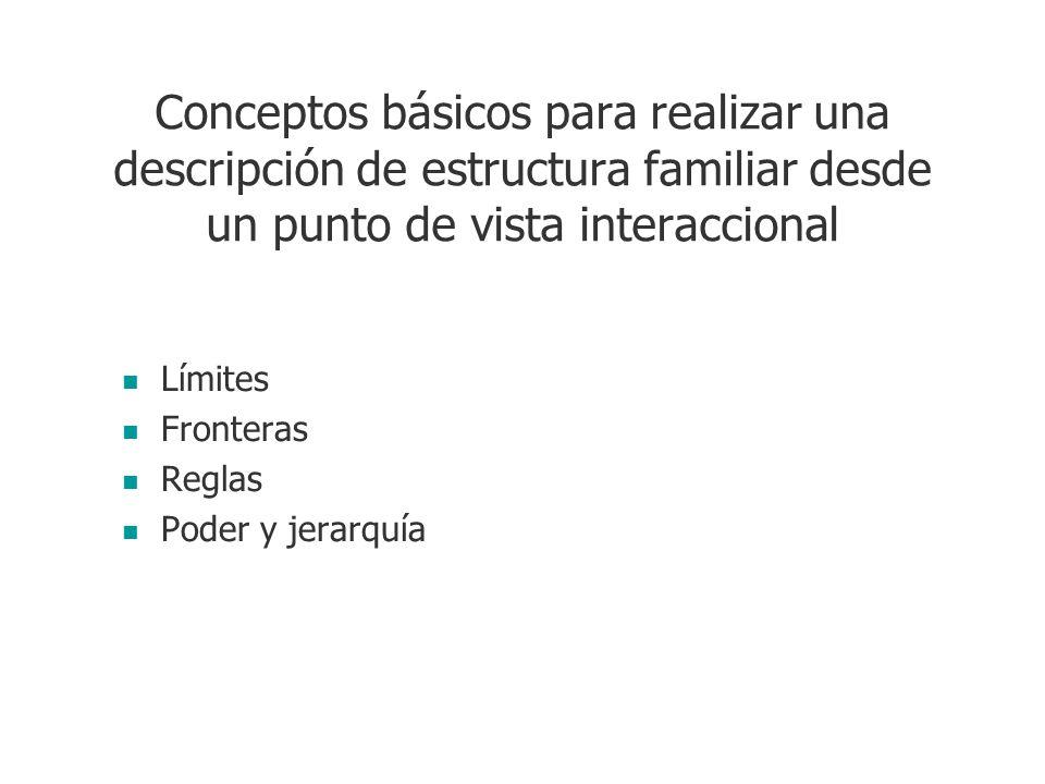 Conceptos básicos para realizar una descripción de estructura familiar desde un punto de vista interaccional