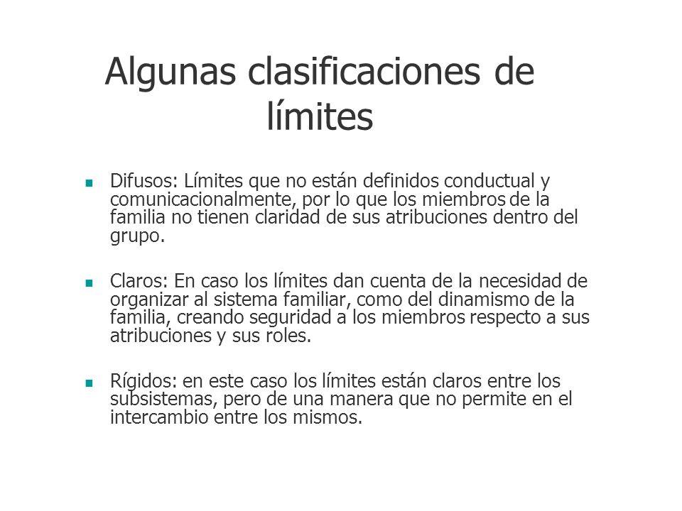 Algunas clasificaciones de límites