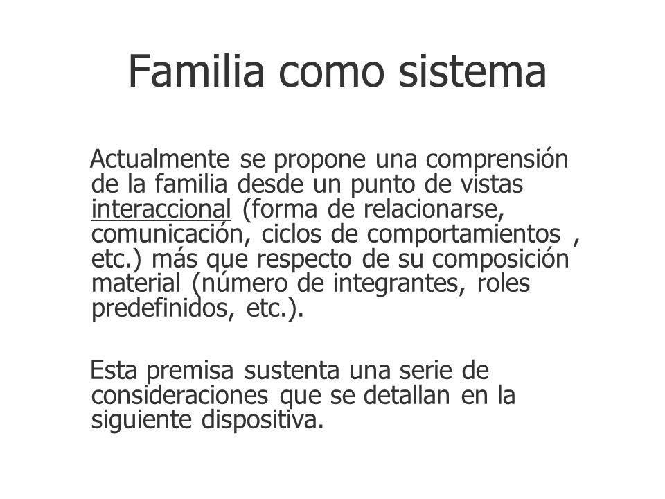 Familia como sistema