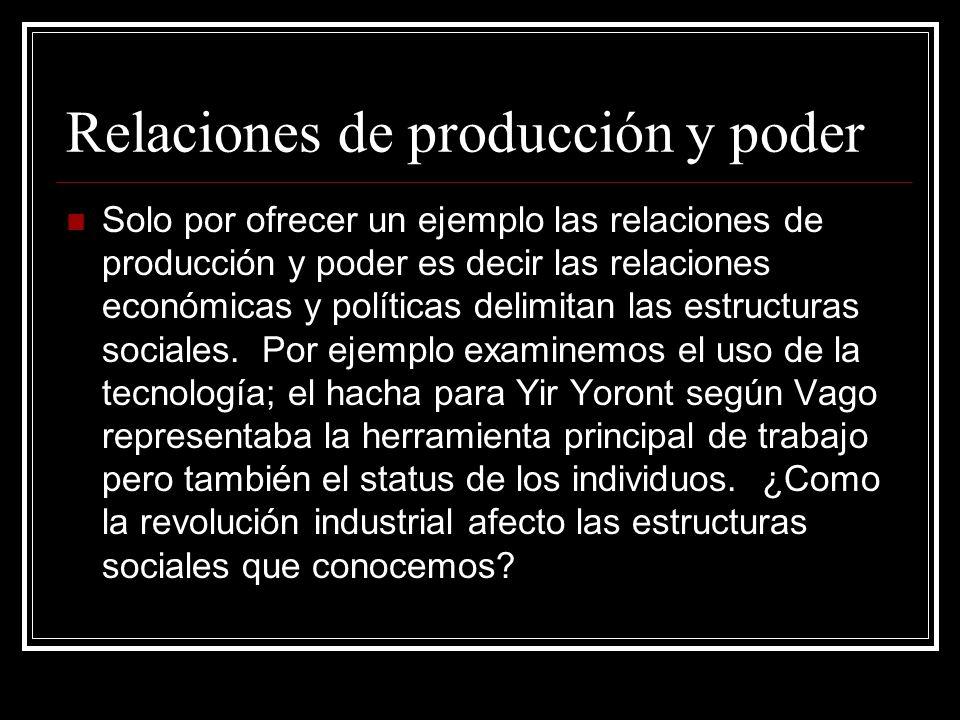Relaciones de producción y poder