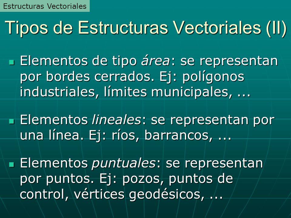Tipos de Estructuras Vectoriales (II)