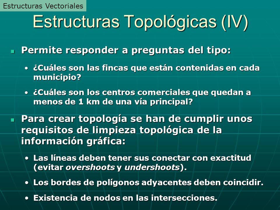 Estructuras Topológicas (IV)