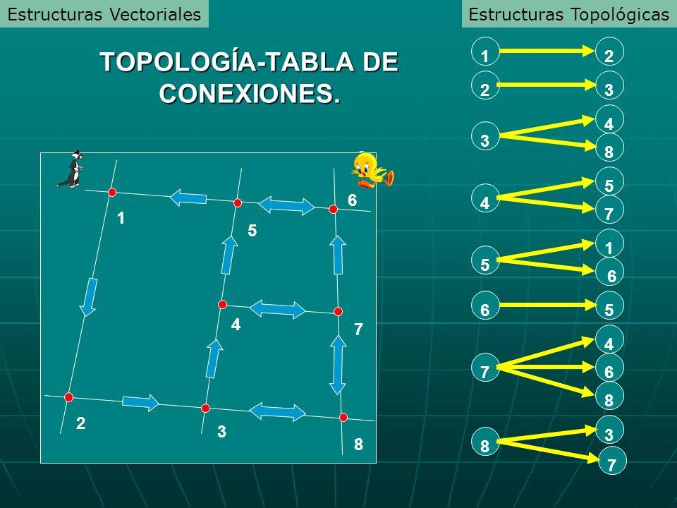 TOPOLOGÍA-TABLA DE CONEXIONES.