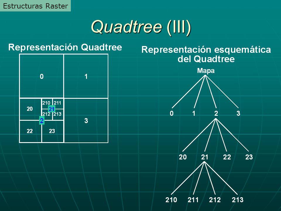 Estructuras Raster Quadtree (III)