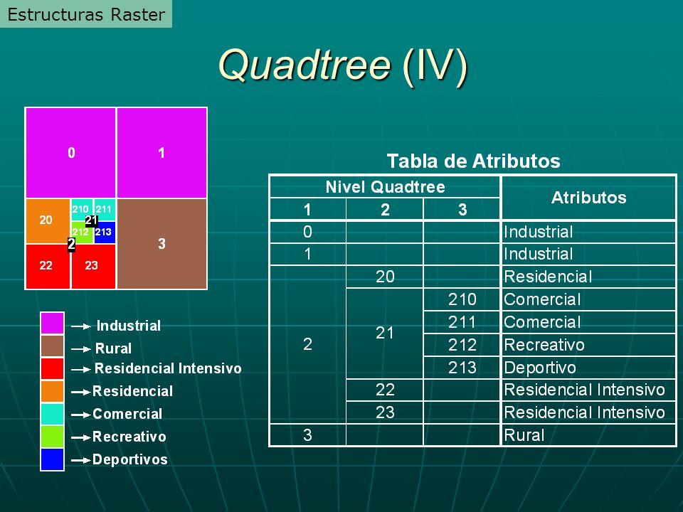 Estructuras Raster Quadtree (IV)
