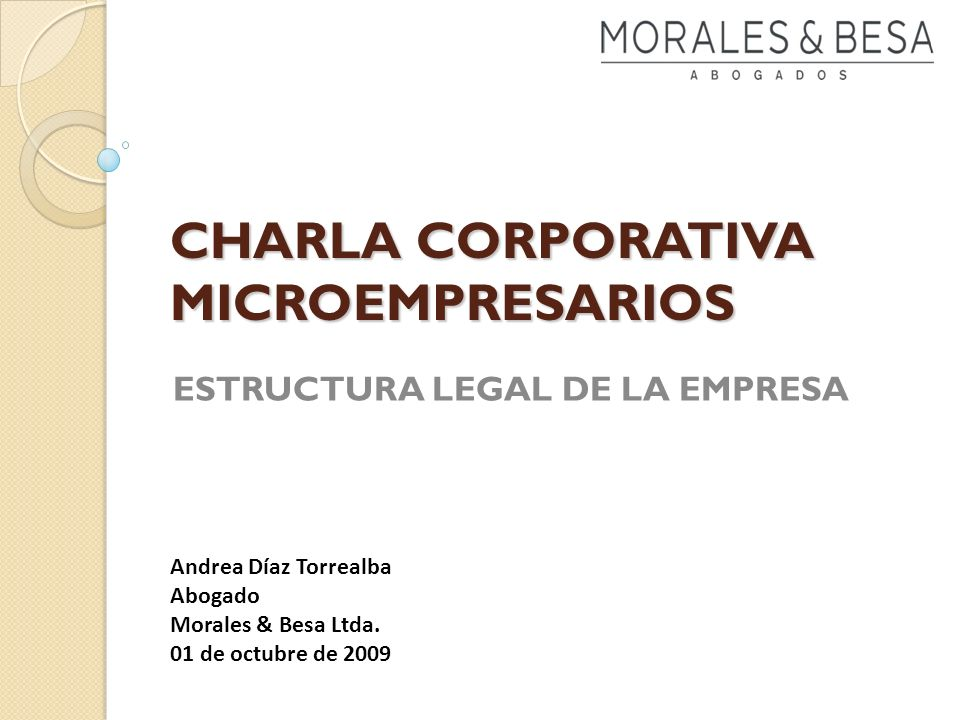 CHARLA CORPORATIVA MICROEMPRESARIOS