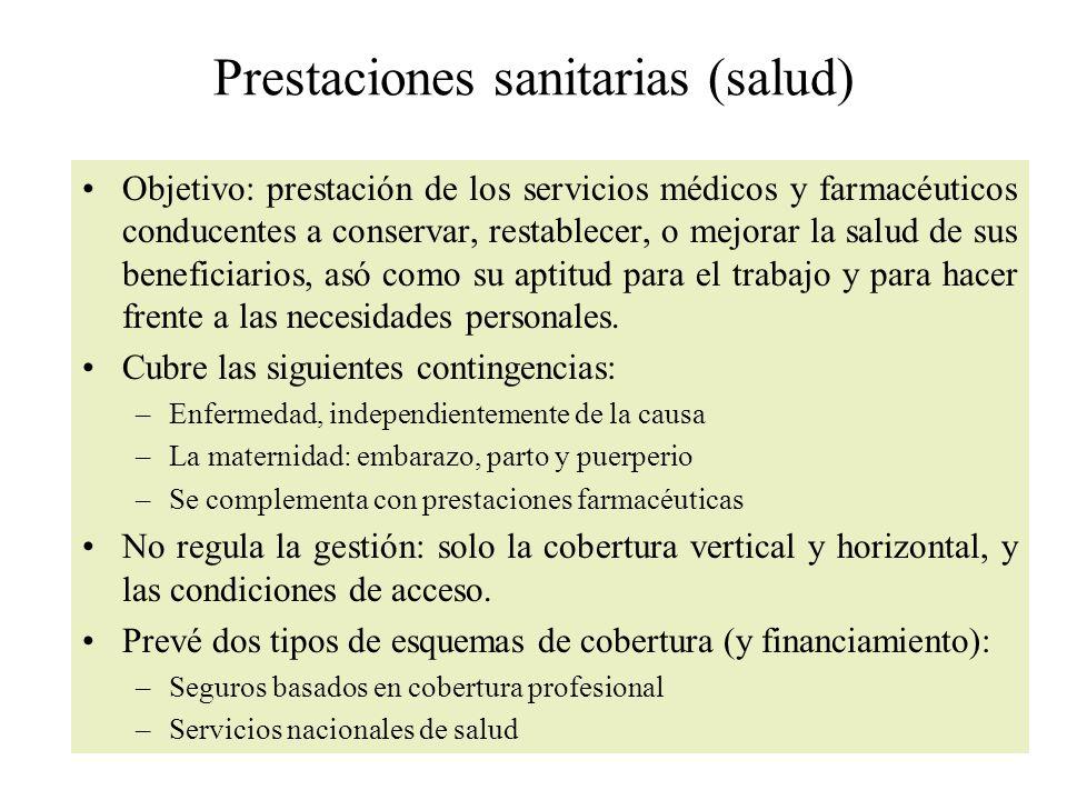 Prestaciones sanitarias (salud)