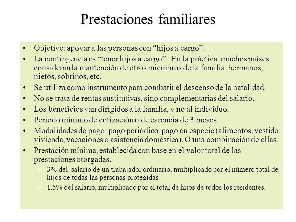 Prestaciones familiares