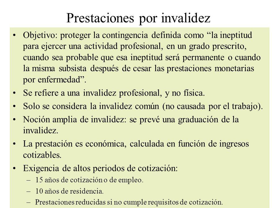 Prestaciones por invalidez