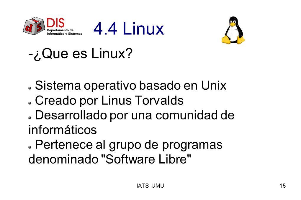 -¿Que es Linux 4.4 Linux Sistema operativo basado en Unix