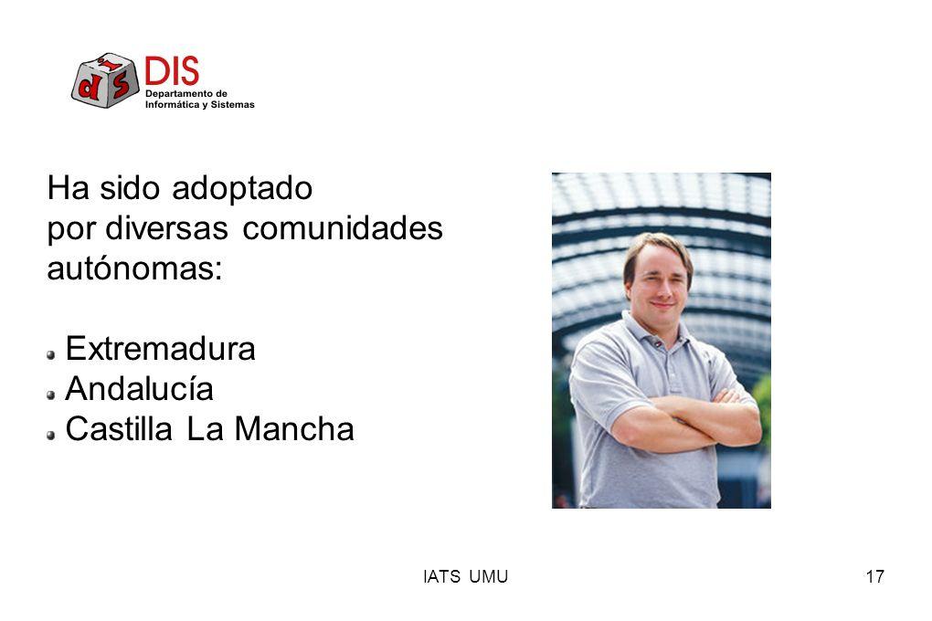 por diversas comunidades autónomas: Extremadura Andalucía