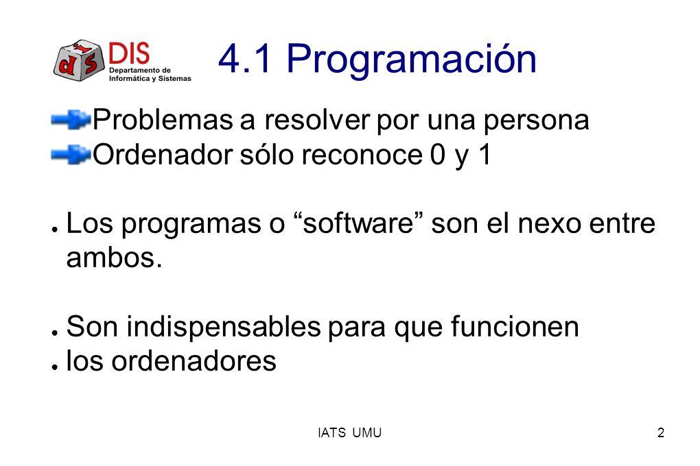 4.1 Programación Problemas a resolver por una persona