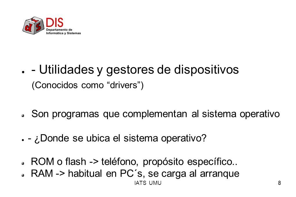 - Utilidades y gestores de dispositivos (Conocidos como drivers )