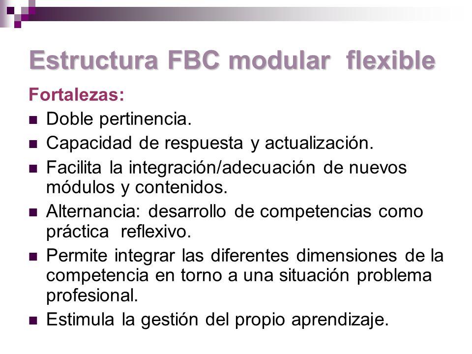 Estructura FBC modular flexible
