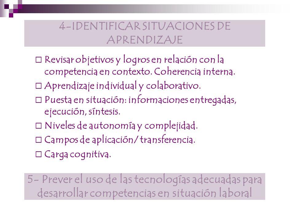 4-IDENTIFICAR SITUACIONES DE APRENDIZAJE