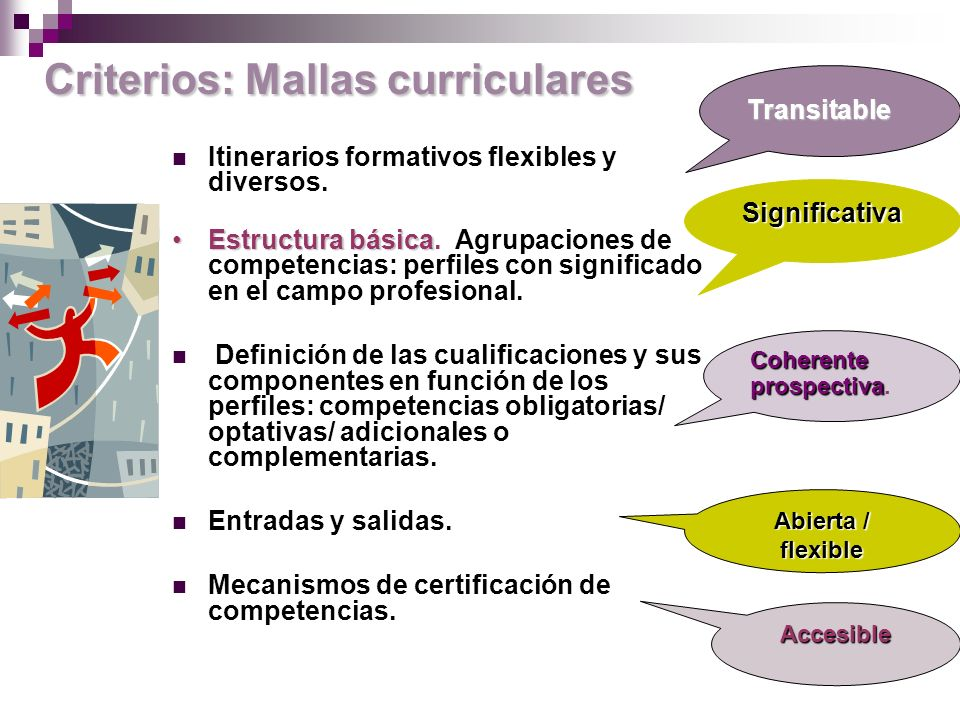 Criterios: Mallas curriculares