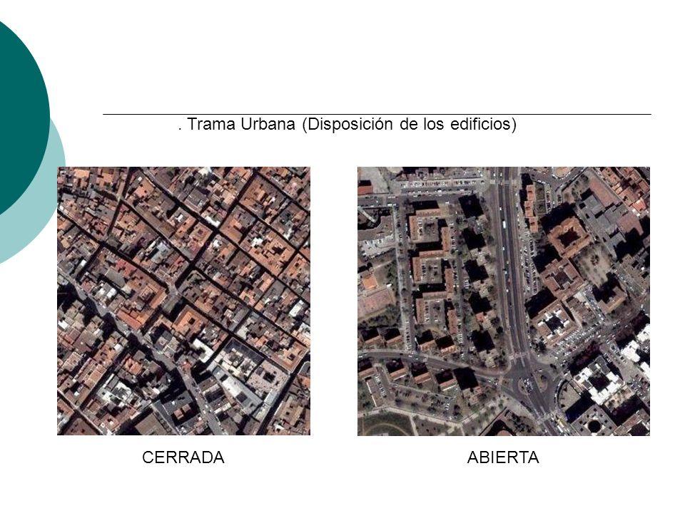 1. Trama Urbana (Disposición de los edificios)