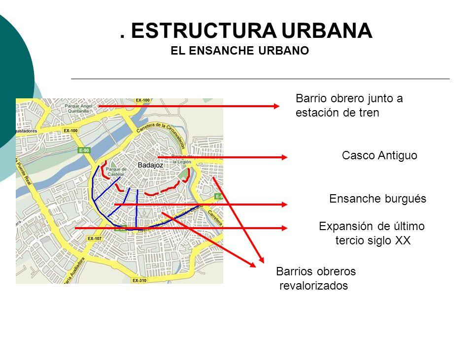3. ESTRUCTURA URBANA EL ENSANCHE URBANO Barrio obrero junto a
