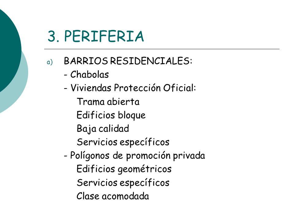 3. PERIFERIA BARRIOS RESIDENCIALES: - Chabolas