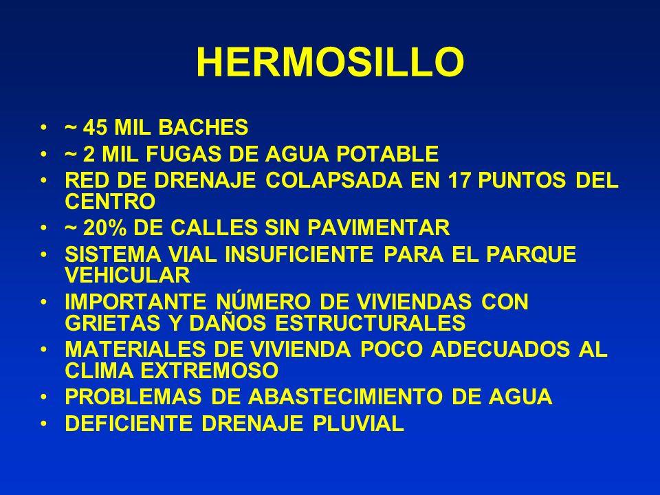 HERMOSILLO ~ 45 MIL BACHES ~ 2 MIL FUGAS DE AGUA POTABLE