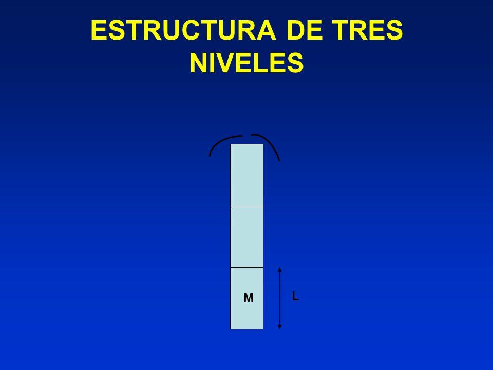 ESTRUCTURA DE TRES NIVELES