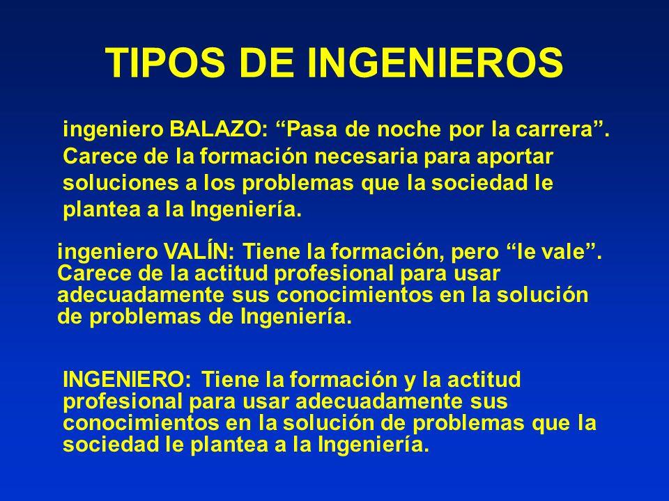 TIPOS DE INGENIEROS